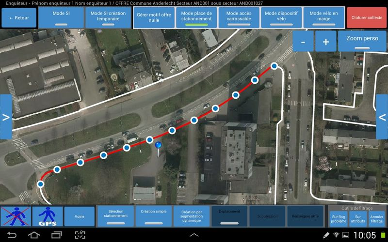 parking statement Android appliaction